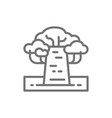 african baobab tree line icon