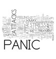 are you free of panic attacks text word cloud vector image vector image