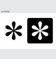 asterisk symbol vector image vector image