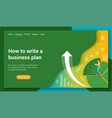 business plan flat design concept vector image