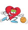 Cartoon Basketball Heart vector image vector image