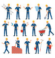 cartoon worker character technician workers vector image
