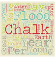 Chalk And Noah s Flood text background wordcloud vector image vector image