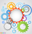Color different gear wheels abstract background vector image