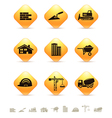 Construction and realty icons on rhombus buttons vector image vector image
