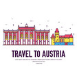 country austria travel vacation place and vector image