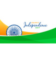 creative independence day indian flag banner vector image vector image