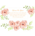 cute sweet rose on wedding card vector image