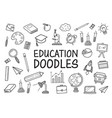 education doodles hand drawn icons vector image vector image