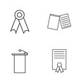 education outline icons set linear icon vector image vector image