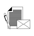 email paper pen vector image vector image