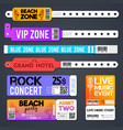 event entrance bracelets and stadium zone vector image vector image