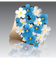 flower forget-me-not vector image