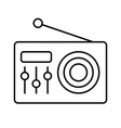 fm radio logo icon vintage emblem label badge vector image