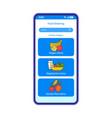 food ordering online app smartphone interface