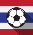 football icon with Thailand flag vector image vector image