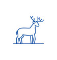 forest deer line icon concept forest deer flat vector image