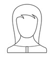 girl avatar icon thin line vector image