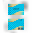 gold business card vector image vector image