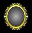 gold frame oval vector image vector image