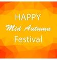 Happy Mid Autumn Backgound vector image