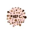 hepatitic c virus vector image vector image