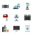 Home electronics icons set flat style vector image vector image