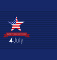 independence day usa card vector image vector image