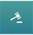 judge gavel icon vector image