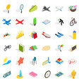 kid icons set isometric style vector image