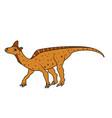 lambeosaurus dinosaur vector image vector image