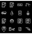 line gas station icon set vector image vector image