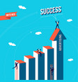 marketing web business team success concept vector image vector image
