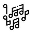 melody music mono and treble notes icon vector image vector image