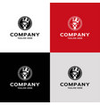modern and cool lion emblem logo design vector image