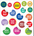 modern web banners and labels colorful collection vector image