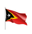 national flag of east timor vector image