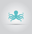 octopus isolated silhouette icon vector image vector image