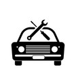 old vintage junk car vehicle automobile repair vector image