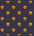 pattern with skull dark seamless background vector image vector image