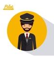 pilot professional design vector image