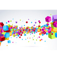 Plastic colorful bright cubic wave background vector image vector image