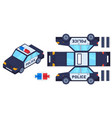 police car paper cut toy kids crafts create toys vector image vector image