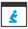 Pray Person Calendar Page Toolbar Icon vector image vector image