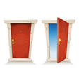 red door open and closed vector image