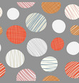 red orange cream hand drawn circles seamless vector image
