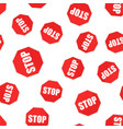 red stop sign seamless pattern background vector image vector image