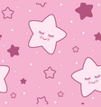 Seamless childish pink star background