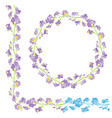 set of ornaments - decorative hand drawn floral vector image vector image