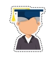 student graduation with uniform icon vector image vector image
